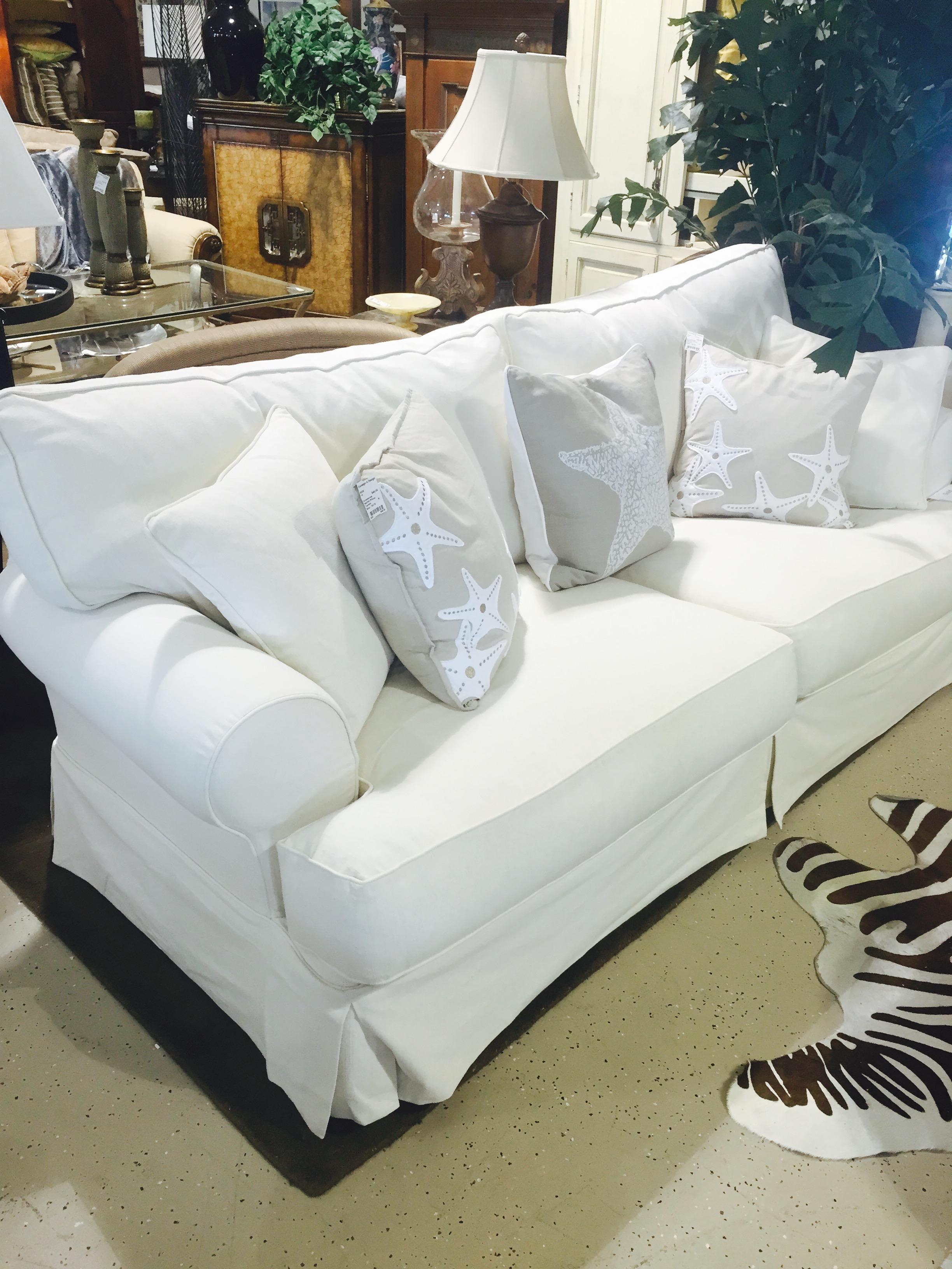 Shabby chic slip Sofa CONSIGN & DESIGN BONITA SPRINGS FL